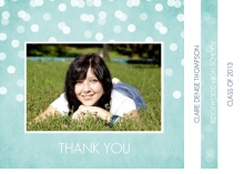Graduation Thank You Booklet Rustic Turquoise