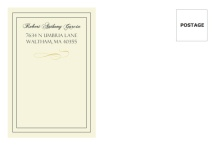Formal Cream and Gray  Graduation Envelope