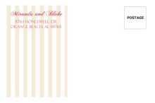 Floral Tan Stripes Wedding  Envelope