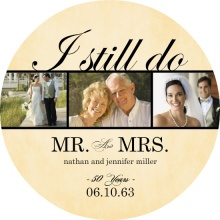 Rustic Yellow I still Do 50th Anniversary Invitation