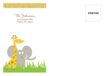 Safari Animals  Custom Envelope
