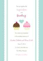 Cupcake Wedding  Invitation
