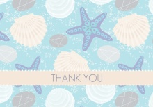 Beach Shell  Bridal Shower Thank You Card