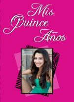 Zebra Print Pink Photo Quinceanera Invitation