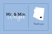Personalized State Wedding  Thank You