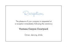 Personalized State Wedding  Enclosure card