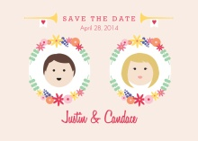Personalized Faces Wedding  Save the Date