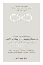 Champagne Infinity Monogram Wedding Invitation
