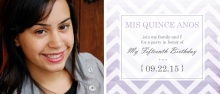 Purple Ombre Chevron Quinceanera Invitation