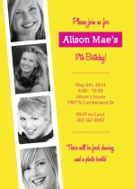 Photo Booth teen Birthday Invitation