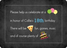 Icon Teen Birthday Invitation