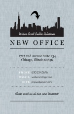 Black City Gray Linen Business Moving Announcement