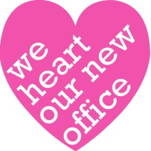 Heart Our New Office Business Moving Announcement