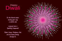 Bright and Colorful Diwali Card