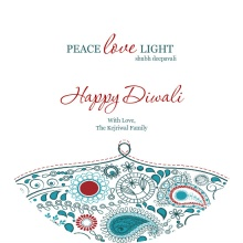 Peace Love Light Diwali Greeting Card