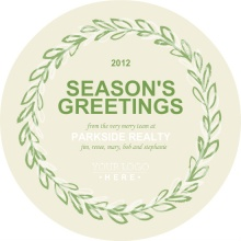 Simple Wreath Realty Business Holiday Card