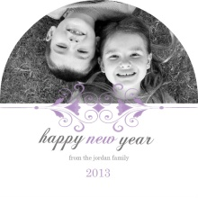 Art Nouveau New Years Photo Card