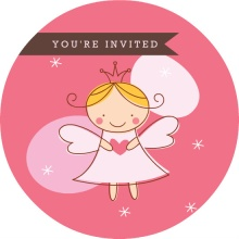 Pink Fairy Princess Birthday Party Invite