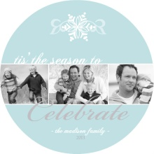 Wintry Snowflakes Christmas Photo Card
