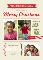 Modern Festive Banners Christmas Photo Card