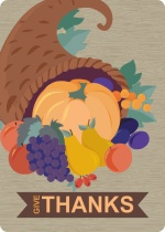 Cornucopia Thanksgiving Dinner Party Invitation