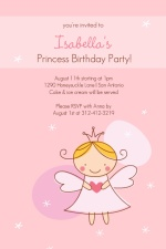 Pink Fairy Princess Birthday Invitation