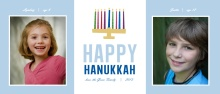 Gold Menorah Hanukkah Photo Card