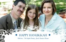 White Frame Hanukkah Card
