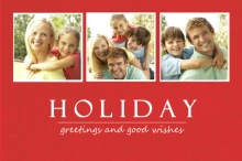 Classic Red Holiday Photo Card
