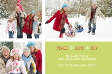Simple Season's Greetings  Holiday Photo Card