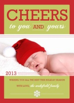 Big Holiday Cheer  Holiday Photo Card